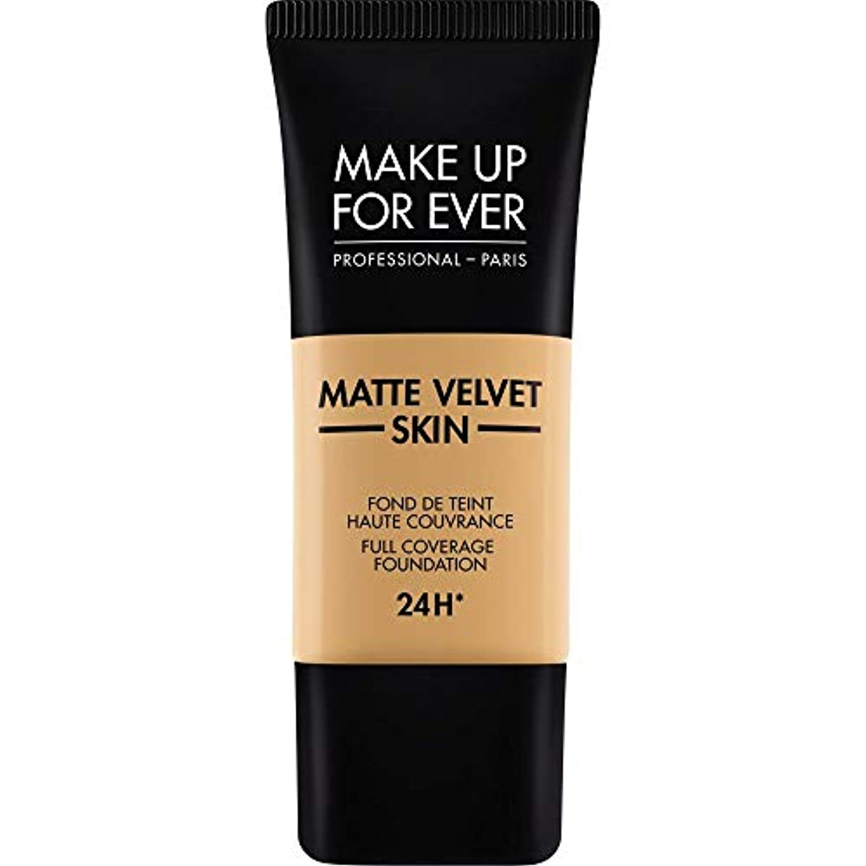 だます拒否撃退する[MAKE UP FOR EVER] 黄金の蜂蜜 - これまでマットベルベットの皮膚のフルカバレッジ基礎30ミリリットルのY405を補います - MAKE UP FOR EVER Matte Velvet Skin Full...
