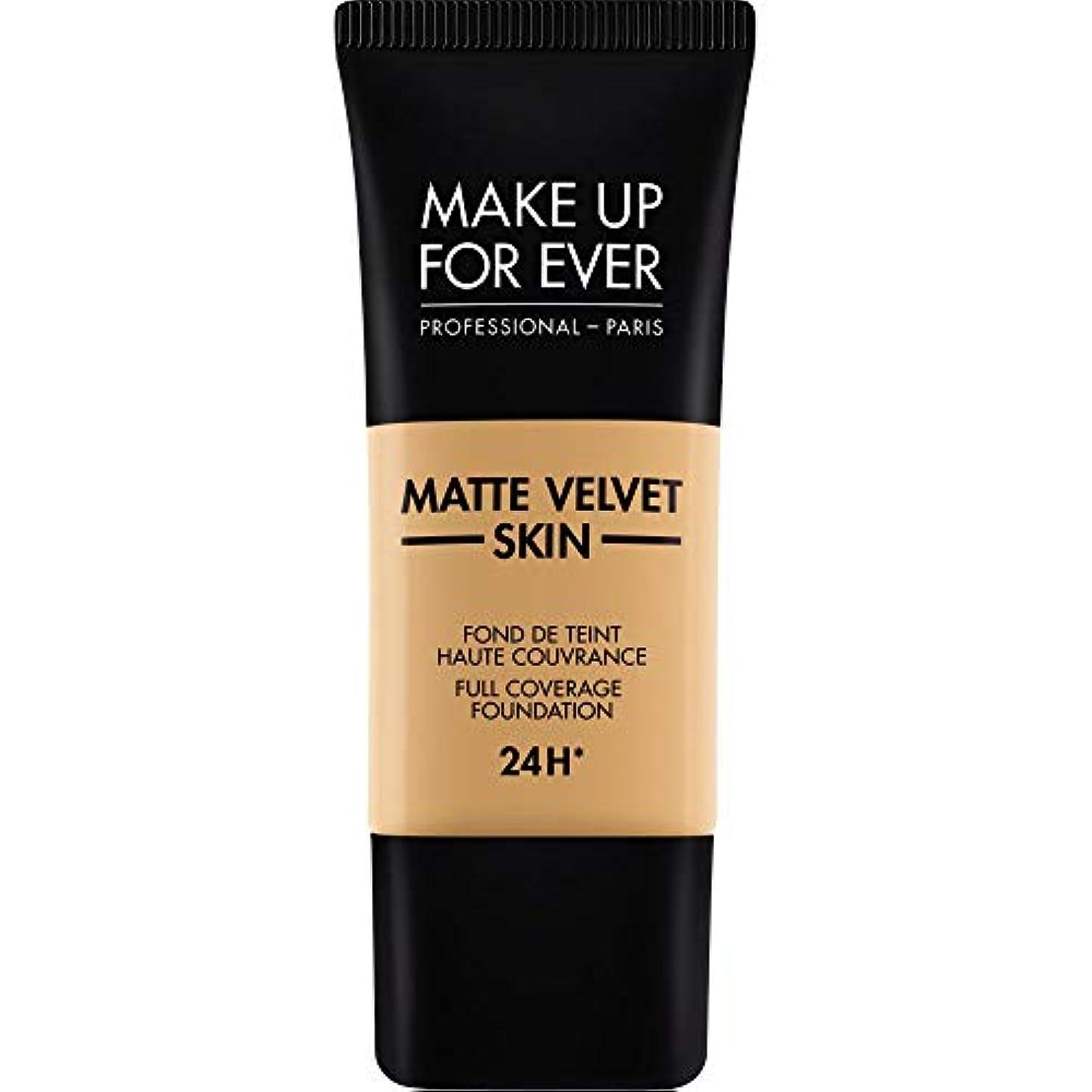 スープ投資結果[MAKE UP FOR EVER] 黄金の蜂蜜 - これまでマットベルベットの皮膚のフルカバレッジ基礎30ミリリットルのY405を補います - MAKE UP FOR EVER Matte Velvet Skin Full...