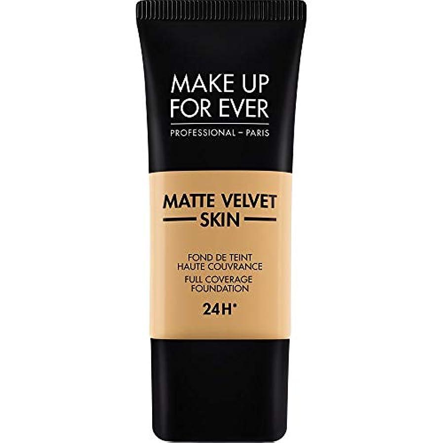 医薬用語集包括的[MAKE UP FOR EVER] 黄金の蜂蜜 - これまでマットベルベットの皮膚のフルカバレッジ基礎30ミリリットルのY405を補います - MAKE UP FOR EVER Matte Velvet Skin Full Coverage Foundation 30ml Y405 - Golden Honey [並行輸入品]