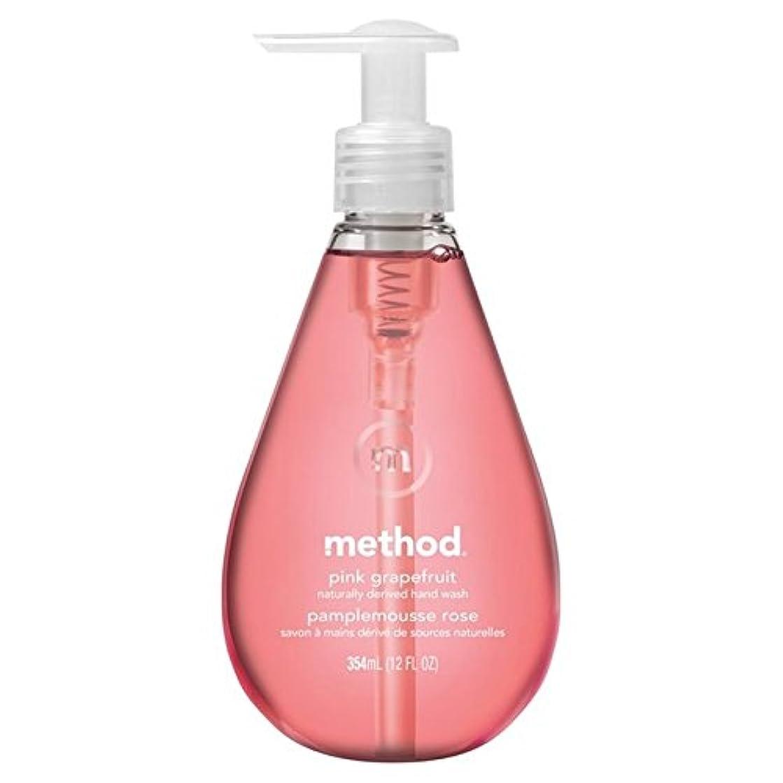 メソッドピンクグレープフルーツの354ミリリットル x4 - Method Pink Grapefruit Handsoap 354ml (Pack of 4) [並行輸入品]