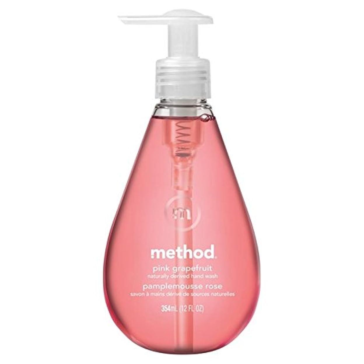 残り強いますやさしいMethod Pink Grapefruit Handsoap 354ml (Pack of 6) - メソッドピンクグレープフルーツの354ミリリットル x6 [並行輸入品]