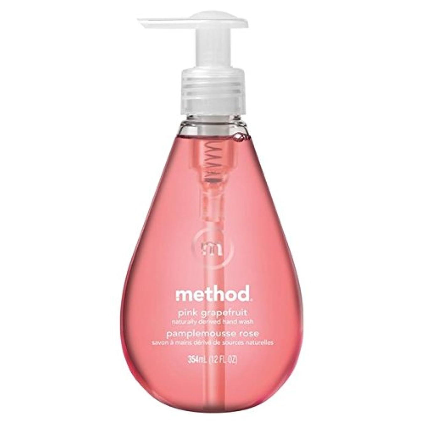 段落ロイヤリティ平方Method Pink Grapefruit Handsoap 354ml (Pack of 6) - メソッドピンクグレープフルーツの354ミリリットル x6 [並行輸入品]