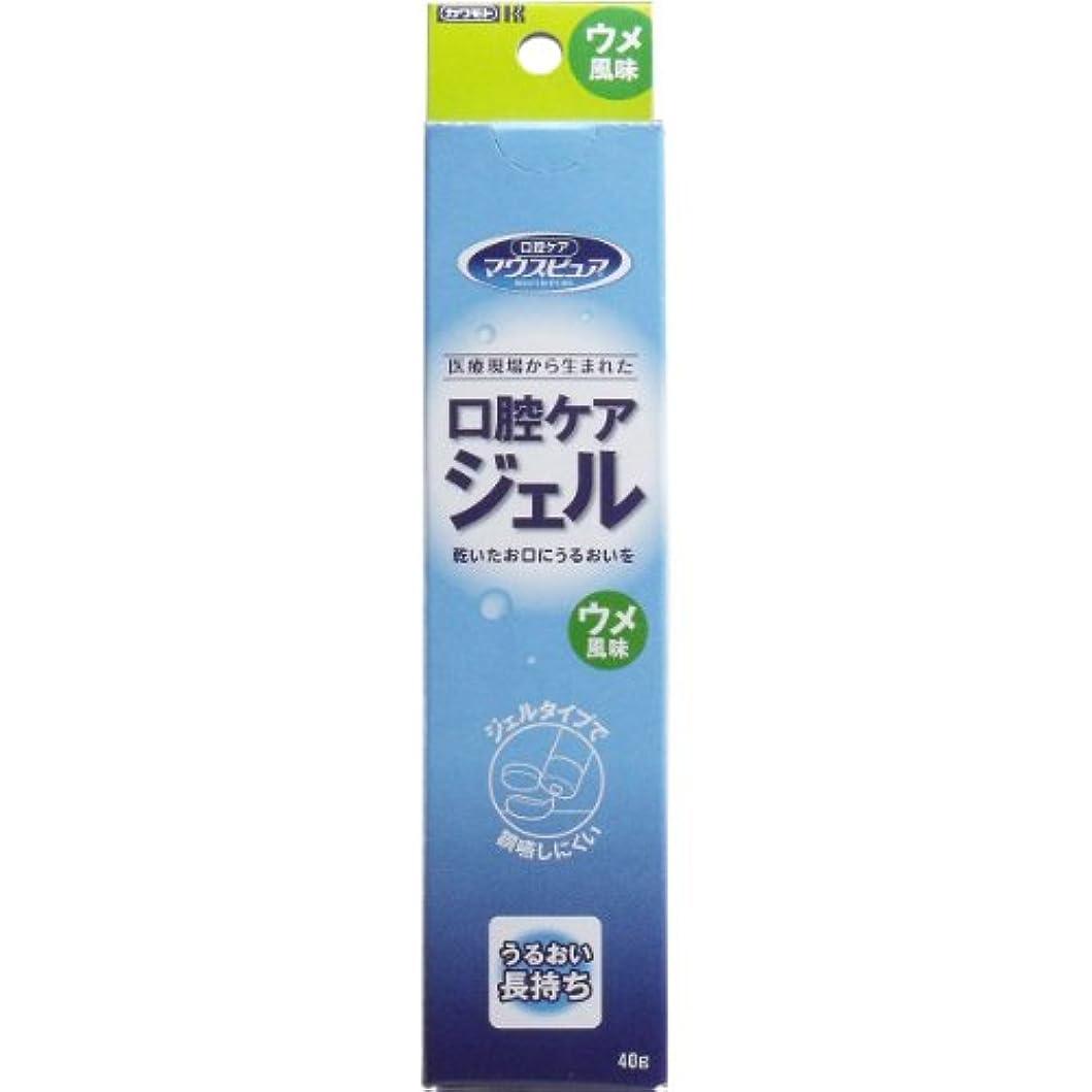 疫病地殻分析的【まとめ買い】川本産業 マウスピュア 口腔ケアジェル ウメ風味 40g入【×4個】