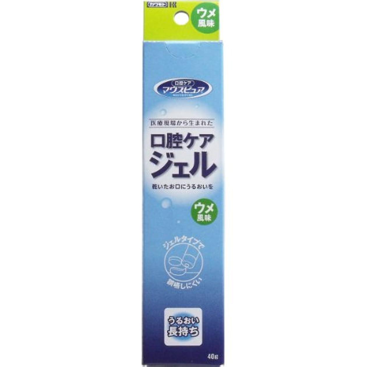 遺産膜すでに【まとめ買い】川本産業 マウスピュア 口腔ケアジェル ウメ風味 40g入【×4個】
