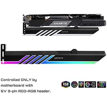 Novonest 汎用ビデオカードホルダー GPUブレースサポート グラフィックカードを固定する ARGB LEDライト SYNCザーボード5V 3PIN 【GL28ARGB】