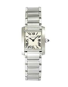 [カルティエ]Cartier 腕時計 タンクフランセーズ ホワイト文字盤 SS レディース クォーツ コレクションBOXセット W51008Q3 レディース 【並行輸入品】