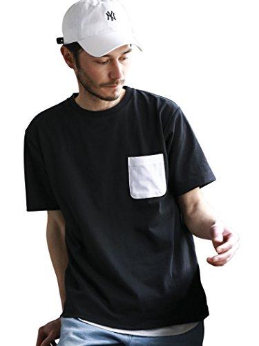 (ユナイテッドアローズ グリーンレーベル リラクシング) UNITED ARROWS green label relaxing 【WEB限定】BC ★★DRY COMBI/COL C/N Tシャツ <機能性素材> 32171404232 0950 BLACK(09) MEDIUM