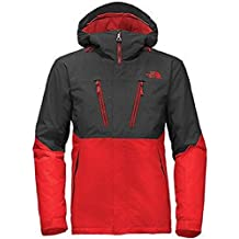 The North Face Men's Fourbarrel Hooded Rain Jacket Red/Grey
