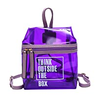 バッグジッパー 透明 小さ バックパック 学生バッグバック
