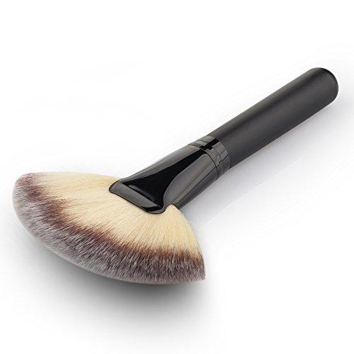 (デマ―クト)De・markt メイクブラシ 化粧筆 化粧専用ファンデーションブラシ 扇形ブラシ フェイスパウダーブラシ 超柔らかいメ イクアップツール