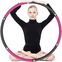 フラフープ バランス インナーマッスルLAGAVEN くびれ ウエスト 部分痩せ ダイエット 大人用 ジョイント式 6本組 90cm ジム エクササイズ 有酸素運動 初心者 体幹 トレーニング