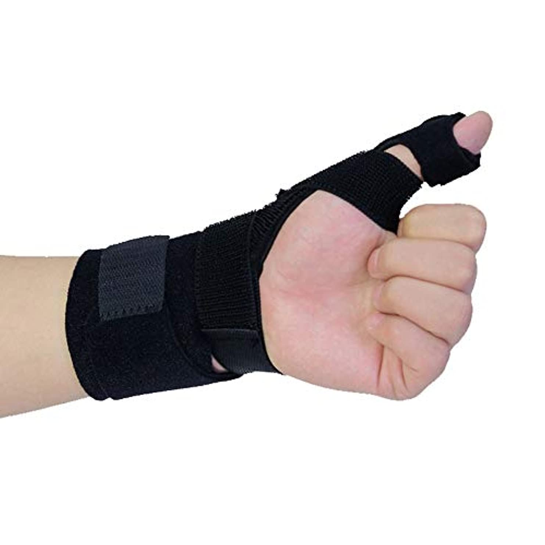 滑る適格生理関節炎、腱炎、手根管の痛みの軽減、軽量で 調節可能なサイズに適した調節可能な親指装具プロテクター