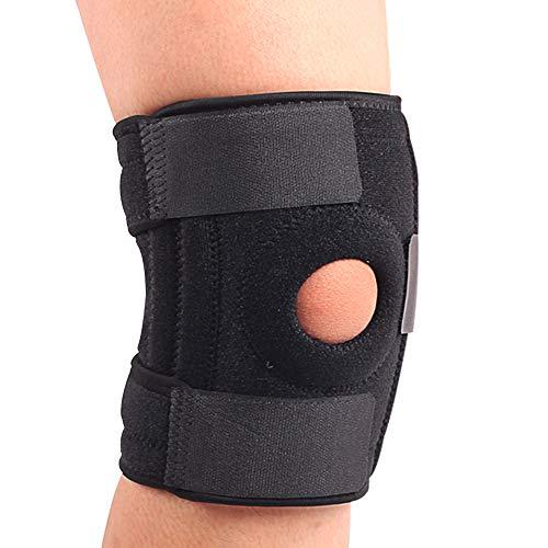 膝サポーター スポーツ 膝固定 怪我防止 膝保護 靭帯 筋肉保護 通気性 伸縮性 登山 膝パッド ランニング バスケ サッカー アウトドア運動 運動用 サイズ調整 - 左右、男女兼用 一枚入