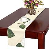GGSXD テーブルランナー きれい 椿の花 クロス 食卓カバー 麻綿製 欧米 おしゃれ 16 Inch X 72 Inch (40cm X 182cm) キッチン ダイニング ホーム デコレーション モダン リビング 洗える
