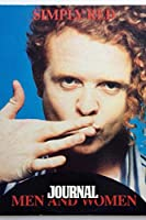 Journal: Simply Red British Soul And Pop Band Mick Hucknall Singer Songwriter Best New Artist in 1987, 110 blank pages, 6x 9: Watercolor Space Design, Writting, Drawing and Creative Doodling (Journals Space Design)