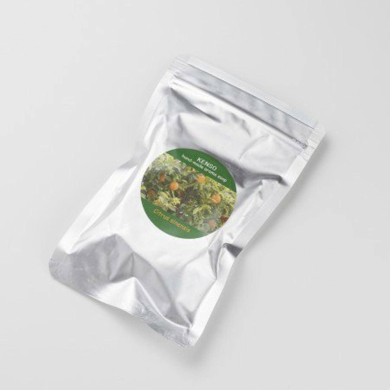 太い神秘的な回復するケンソー アロマグリセリンソープ オレンジソープ 石鹸 50g