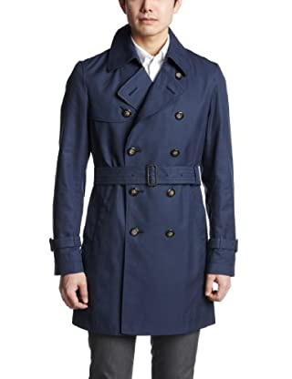 Cotton Gabardine Trench Coat 3125-136-0241: Navy