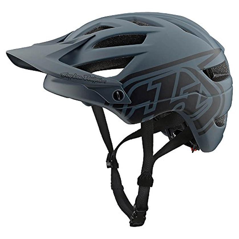 尊厳悲惨なマウントTroy Lee Designs A1ヘルメットドローンドローングレー/ブラック、S
