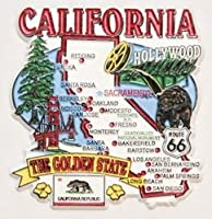 California State Elements Map Fridge Collectible Souvenir Magnet by World By Shotglass
