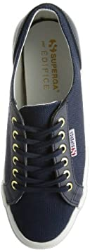 Canvas Leather Shoe 14093310002710: Navy