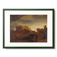 レンブラント・ファン・レイン Rembrandt Harmenszoon van Rijn 「Landscape with Castle. About 1643」 額装アート作品