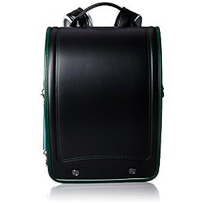 [ふわりぃ] 【公式】 ランドセル レジェコンパクト 男児 2018年度モデル 03-15445 45 ブラック×ディープグリーンコンビ