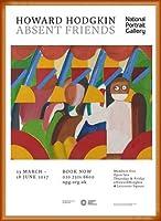 ポスター ハワード ホジキン Absent Friends The Tilsons Exhibition 額装品 ウッドベーシックフレーム(オレンジ)