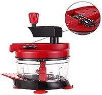 チョッパー、キッチン多機能チョッパー、家庭用果物、野菜チョッパー、スライサー、さいの目に切った、ホームキッチンアシスタント、白(5刃)簡単に材料を処理します。