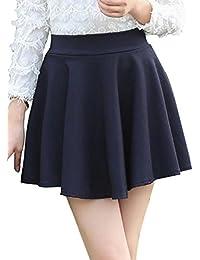 ふんわり フレア ミニスカート カジュアル 可愛い スカート 各色 レディース フリーサイズ