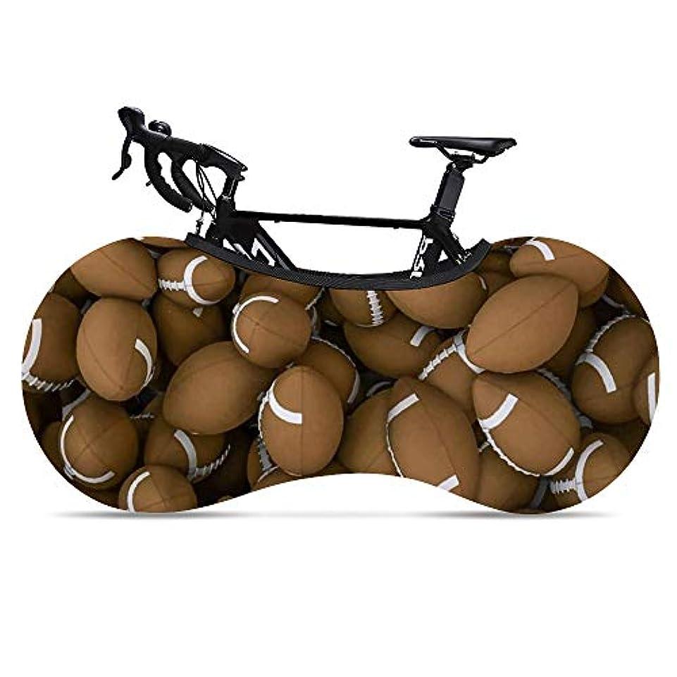 バランス効果的見捨てる自転車タイヤカバー アメリカンフットボール 伸縮式 バイクカバー サイクルカバー 室内保管カバー 車載輸送 超厚手 破れにくい 防犯 防風 防塵 UVカット 雨避け ロードバイク等対応 マウンテンバイク 保護カバー クロスバイク