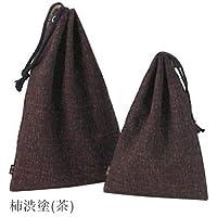巾着【寶船】柿渋塗(茶)