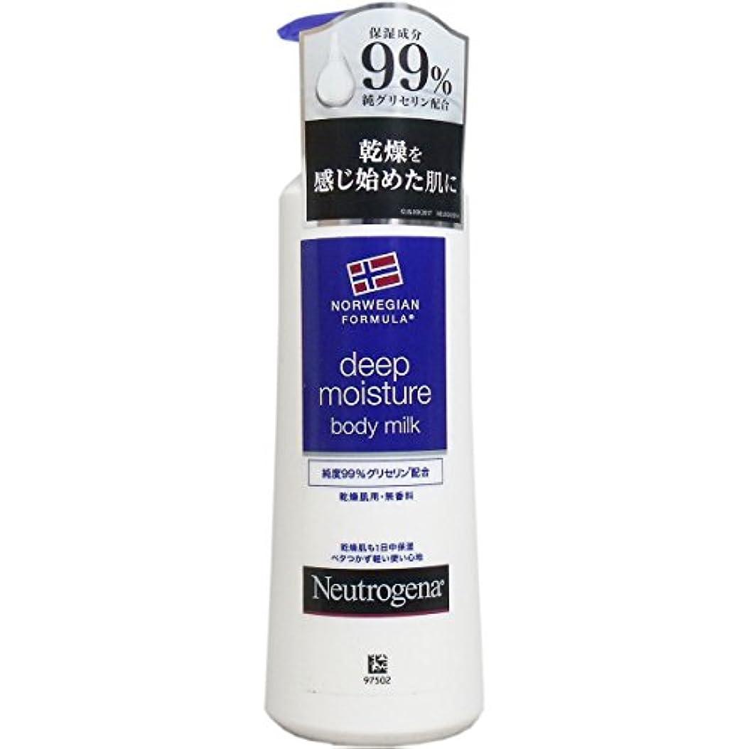 【まとめ買い】Neutrogena(ニュートロジーナ) ノルウェーフォーミュラ ディープモイスチャー ボディミルク 乾燥肌用 無香料 250ml×4個