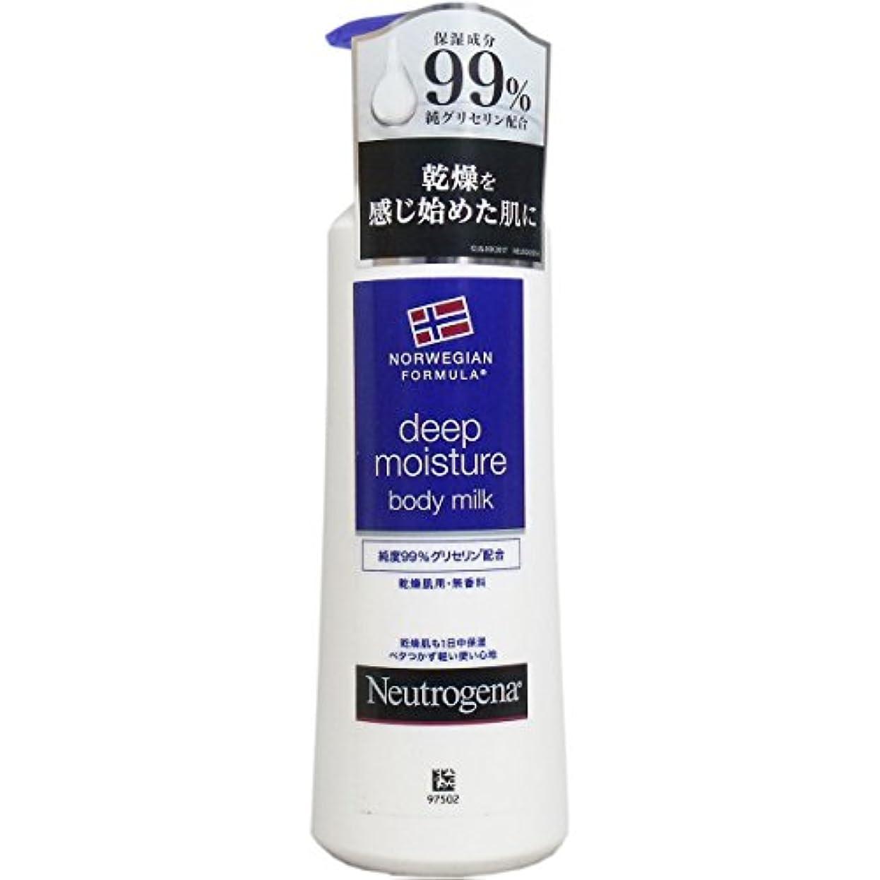 びっくりする先振る【まとめ買い】Neutrogena(ニュートロジーナ) ノルウェーフォーミュラ ディープモイスチャー ボディミルク 乾燥肌用 無香料 250ml×4個