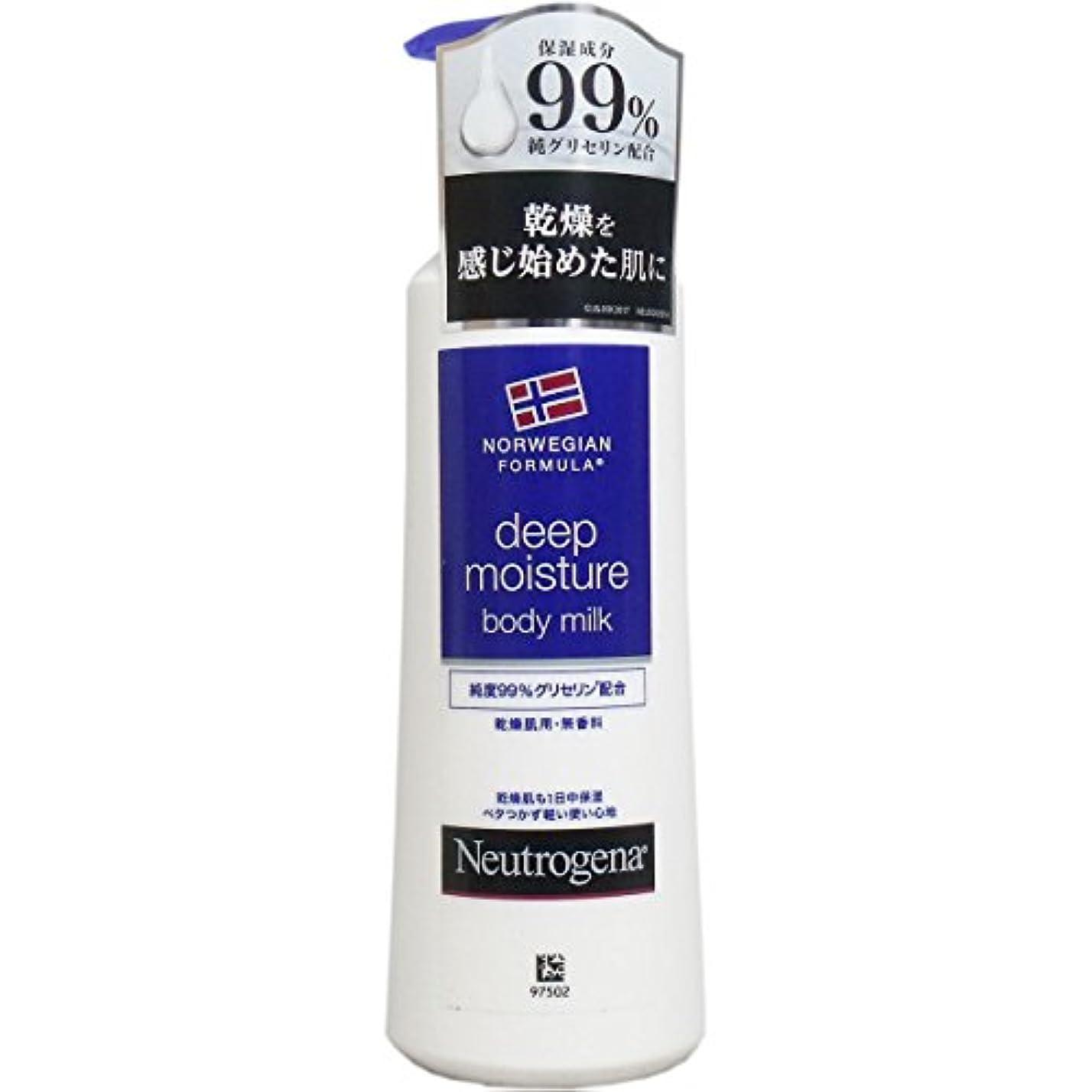 曲線限りリング【まとめ買い】Neutrogena(ニュートロジーナ) ノルウェーフォーミュラ ディープモイスチャー ボディミルク 乾燥肌用 無香料 250ml×4個