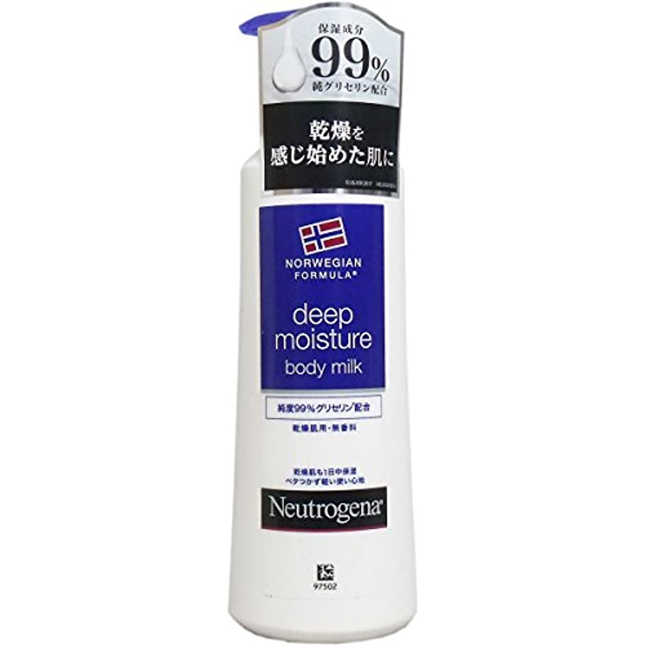 膨らみポーク合わせて【まとめ買い】Neutrogena(ニュートロジーナ) ノルウェーフォーミュラ ディープモイスチャー ボディミルク 乾燥肌用 無香料 250ml×4個