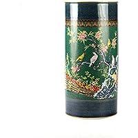 傘スタンド傘ラック傘ホルダーGlazed陶器花瓶ハンドメイドとハンドペイント