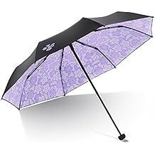 Folding Umbrellas UPF >50 Vinyl Folding Sunscreen UV Protection Sun Visor Dual Lightweight Umbrella Windproof Umbrella