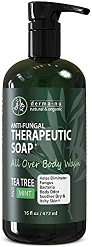 Antifungal Antibacterial Soap & Body Wash - Natural Fungal Treatment with Tea Tree Oil for Jock Itch, Athl
