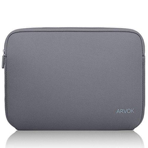 Arvok 15 15.6 16インチ用ラップトップ スリーブ ネオプレン ケース ノートパソコンバッグ 防水 東芝/富士通/Acer/Asus/Dell/Lenovo/HP/Samsung/Sony ブリーフケース 保護用スリーブカバー(グレー)