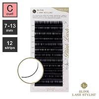 まつげエクステ《世界初!レーザー加工》BLINK ミンクラッシュ (Cカール) (12列) (0.20 / 10mm)