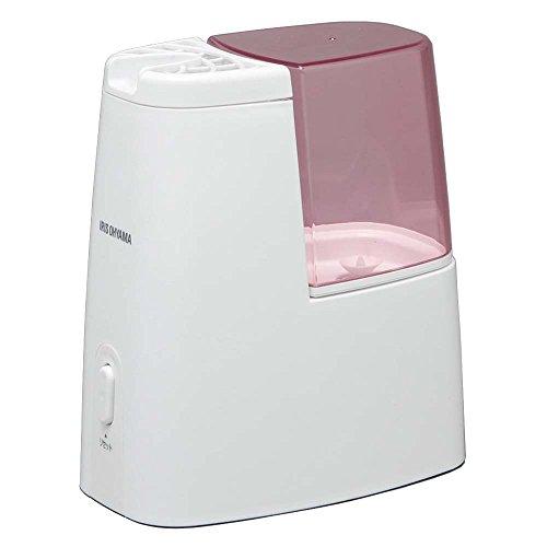 アイリスオーヤマ 加熱式加湿器 タンク容量1ℓ ピンク アロマトレー付き SHM-120D-P