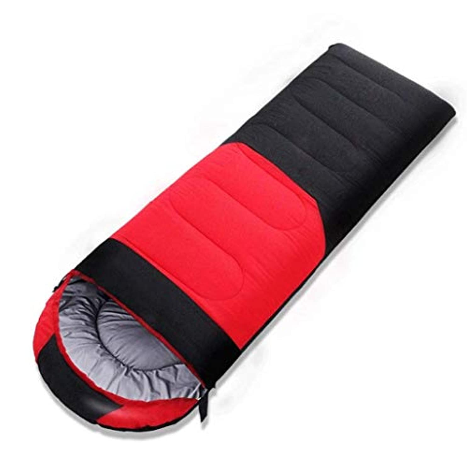 芝生ハブブ露骨な封筒スリーピングバッグオフィスランチブレイクはステッチされることができます大人のキャンプコットン (色 : Red, サイズ さいず : 1.6kg)