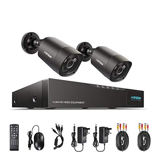 H.View 防犯カメラ 2台セット 400万画素 4ch ...