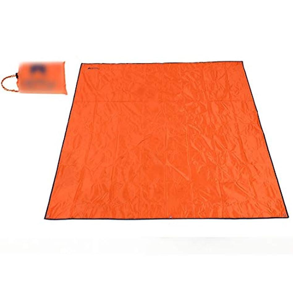 シェアドーム呪われたWanc エクストララージピクニック&アウトドア用ブランケット、旅行用またはキャンプ用、ポータブル、軽量 (Color : オレンジ)