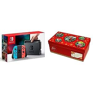 Nintendo Switch 本体 (ニンテンドースイッチ) 【Joy-Con (L) ネオンブルー/ (R) ネオンレッド】+【Amazon.co.jp限定】ギフトラッピングキット【大】 (BOX仕様:マリオキャラクターver.)