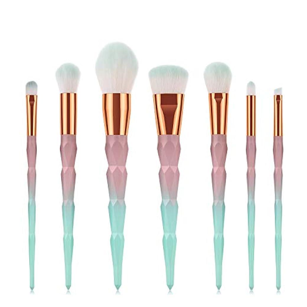 教える最終的に不利Makeup brushes 7ピースグラデーションブラシセットメイクブラシセット形成ハンドルファンデーションブラッシュアイシャドウリップブラシフェイシャルメイクアップツール suits (Color : Gradient...