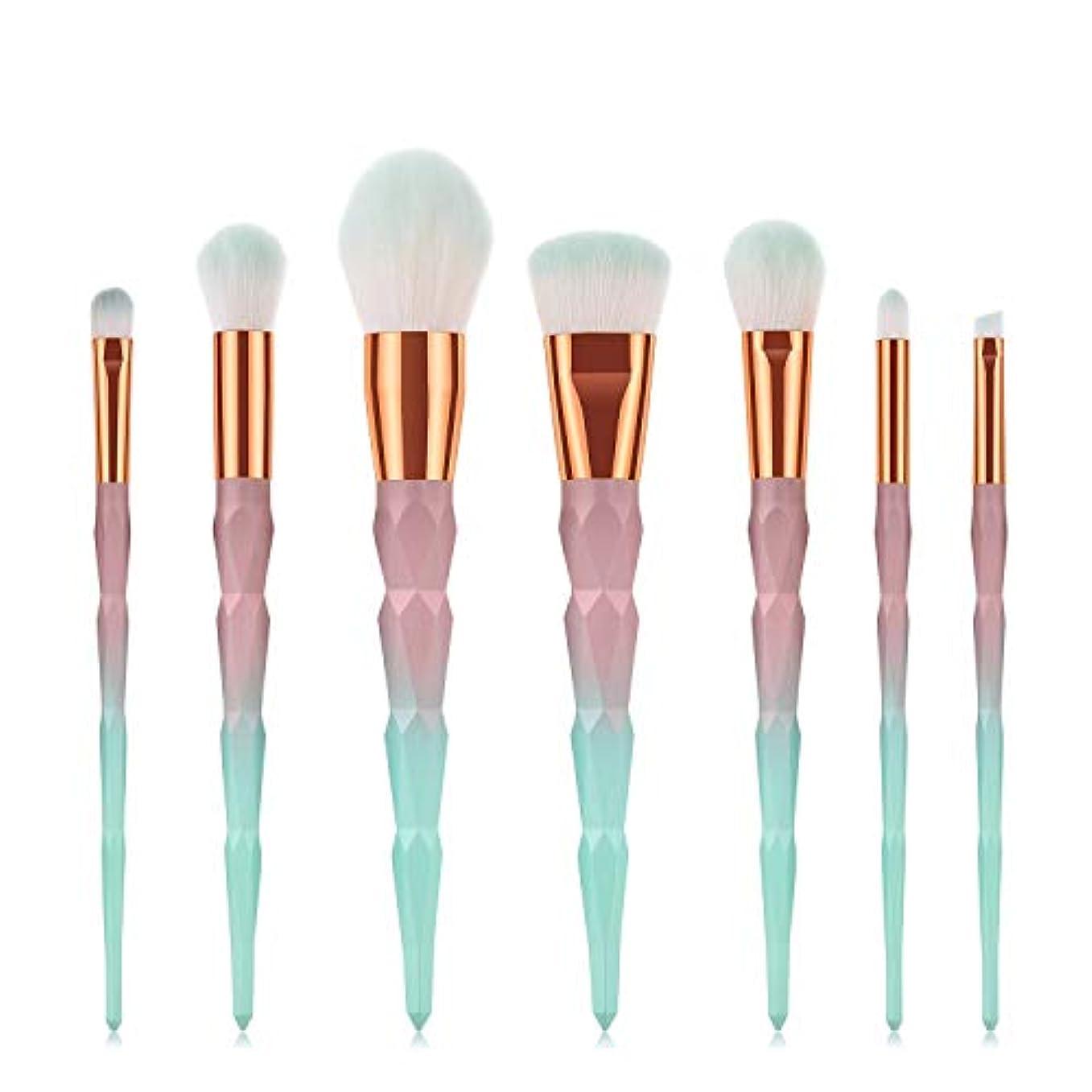 ゆるい意味不定Makeup brushes 7ピースグラデーションブラシセットメイクブラシセット形成ハンドルファンデーションブラッシュアイシャドウリップブラシフェイシャルメイクアップツール suits (Color : Gradient...