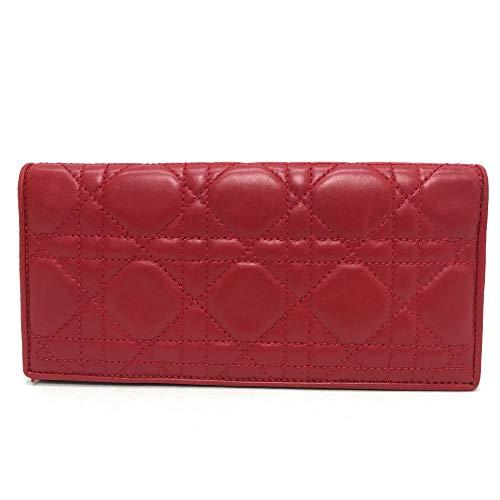 (クリスチャンディオール)Christian Dior レディディオール 2つ折り長財布 長財布(小銭入れあり) レザー/レディース 中古