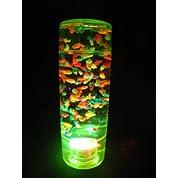 光るオイルタイマー フィッシュ円柱型 グリーンオイル時計 OIL159【2013年4月】