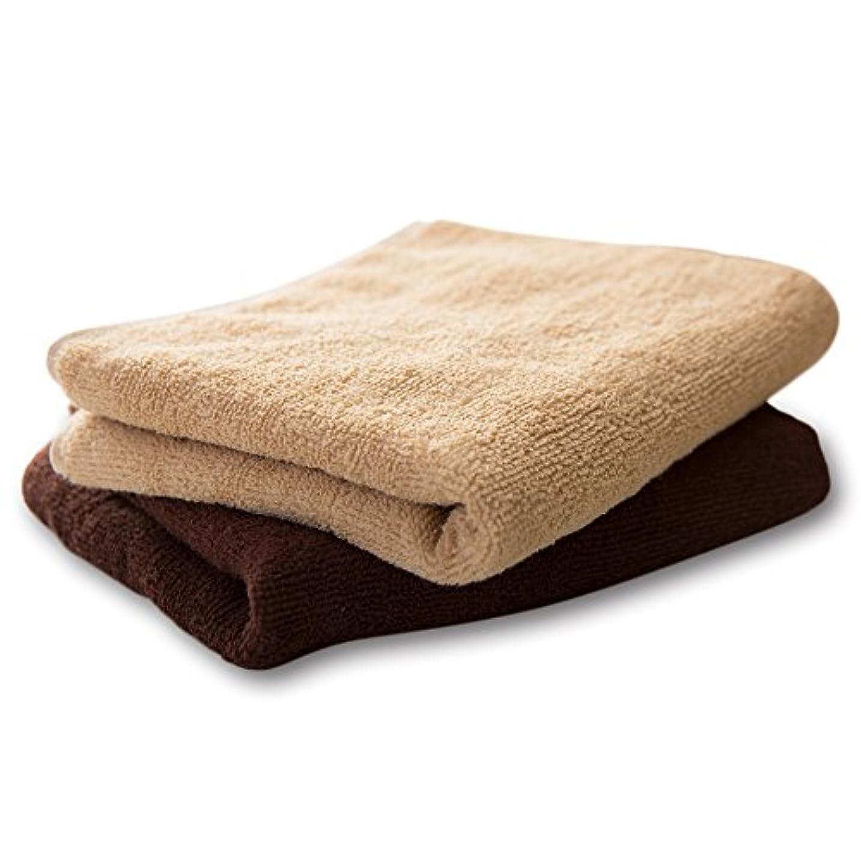 雑草寝室を掃除する望ましいFUWERLU フェイスタオル 6枚入り (ブラウン) フェイシャルタオル スポーツタオル タオル
